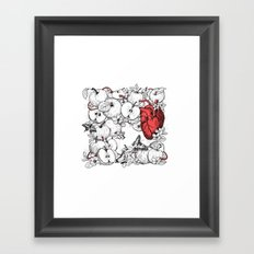 coronary apples Framed Art Print