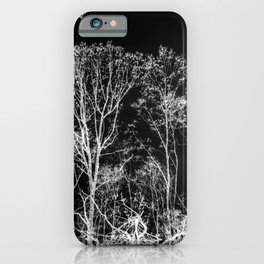 Black and white tree photography - Watercolor series #9 iPhone Case