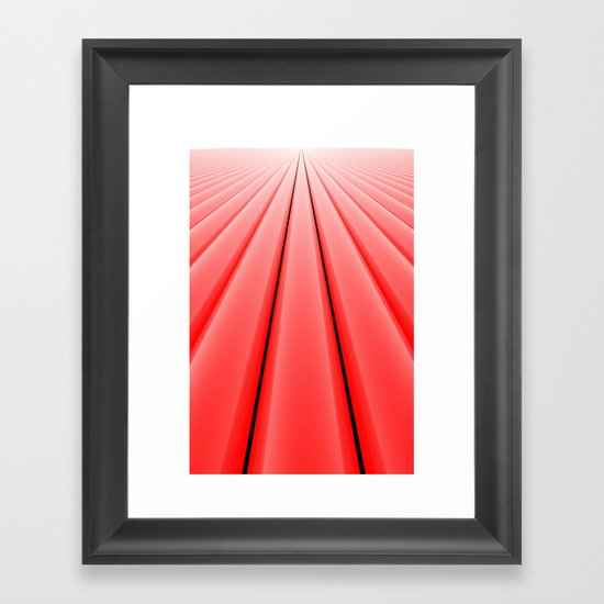 Converge, Red Framed Art Print