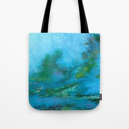 Light Blue Monet´s Theme of Waterlilies Tote Bag