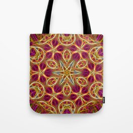Frayed threads kaleidoscope Tote Bag