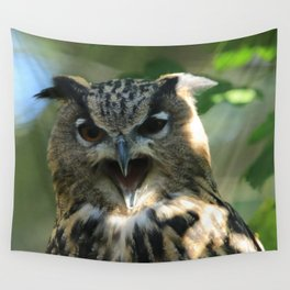 Speech of the owl Wall Tapestry