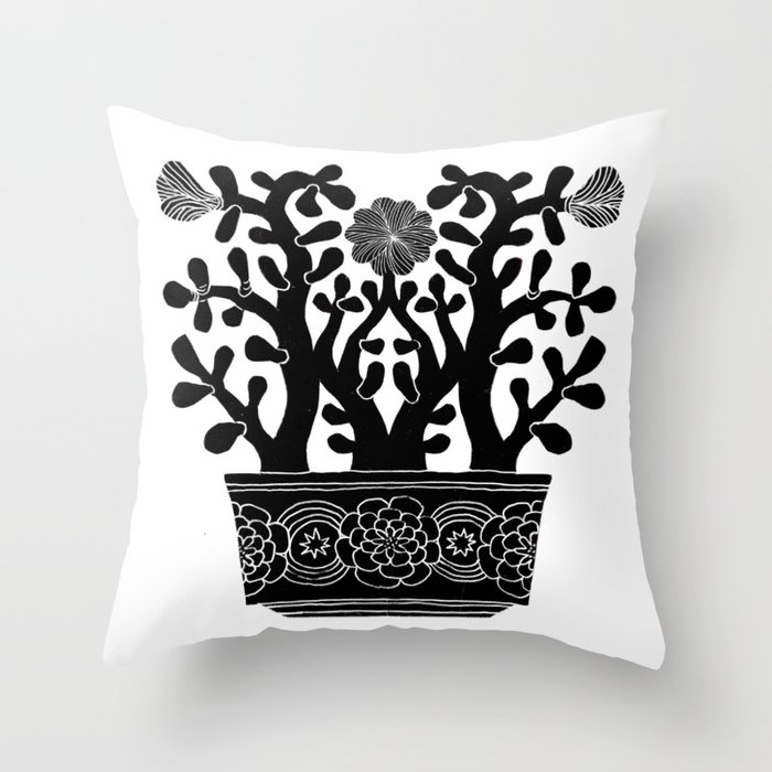 Flowering Jade Throw Pillow