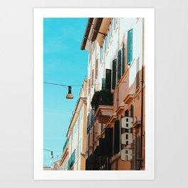 Signs of Polignano Art Print