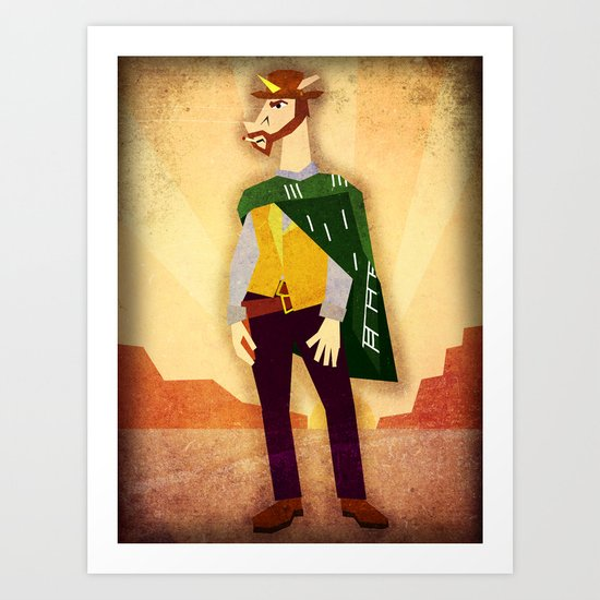 The Good, The Bad, and The Unicorn Art Print