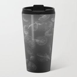 Jellyfish B&W Metal Travel Mug