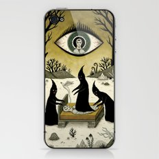 Three Shadow People Terrify a Victim During an Episode of Sleep Paralysis iPhone & iPod Skin