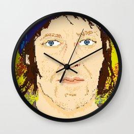 Elliott Smith pixel portrait Wall Clock