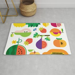 Fruit Medley White Rug