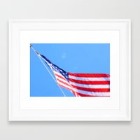 flag Framed Art Prints featuring flag by Dottie