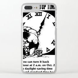 Vintage poster - Daylight Savings Time Clear iPhone Case