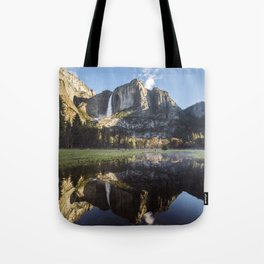 Sunrise over Yosemite Falls Tote Bag