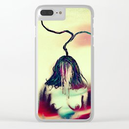 Stemmed with the mind and energy Clear iPhone Case