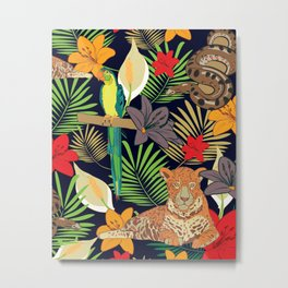 Jungle animals of Amazonia Metal Print