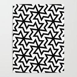 Geometric arabic pattern Poster