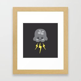 Weather jellyfishes Framed Art Print