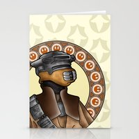 leia Stationery Cards featuring Leia by Miguel Angel Carroza