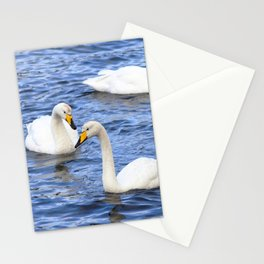 Watercolor Bird, Whooper Swan 07, Isafjardardjup, Iceland Stationery Cards