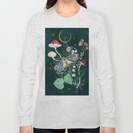 Mushroom night moth Long Sleeve T-shirt