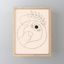 Morning coffee Framed Mini Art Print