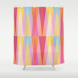 Party Argyle on Pink Shower Curtain