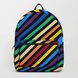 Rainbow Stripes with Black Backpack