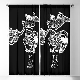 Chinese Meow Blackout Curtain