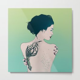 Tattooed Lady Update Metal Print