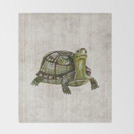 Little Turtle, Forest Animals, Woodland Decor, Woodland Art, Throw Blanket