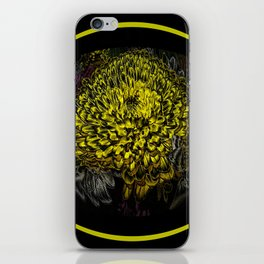 Black Yellow Pink Design iPhone Skin
