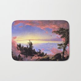 New England - Above the Clouds at Sunrise by Frederic Irwin Church Bath Mat