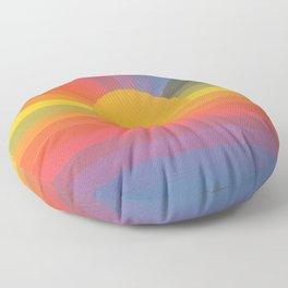 Rainbow Love 2 and sun Floor Pillow