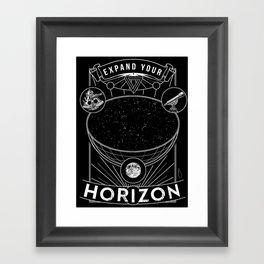 Expand Your Horizon  (Astronomy) Framed Art Print