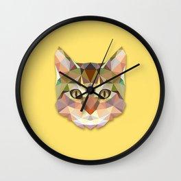Geometric Cat Wall Clock