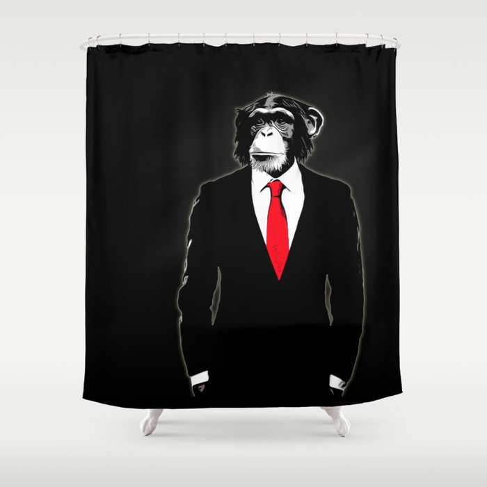 Domesticated Monkey Shower Curtain By Nicklasgustafsson