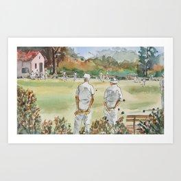 Lawn Bowlers Art Print