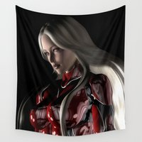suit Wall Tapestries featuring Sci-Fi Suit Portrait by Brian Raggatt