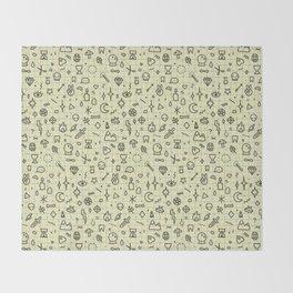 Doodles Pattern Throw Blanket