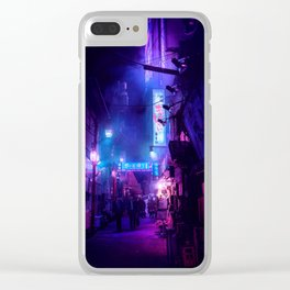 Tokyo Nights / Midnight City / Liam Wong Clear iPhone Case