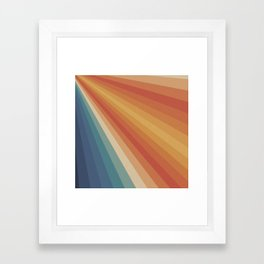 Retro 70s Sunrays Framed Art Print