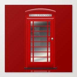 London Telephone Red Call Box  Canvas Print
