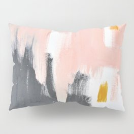 Gray and pink abstract Pillow Sham