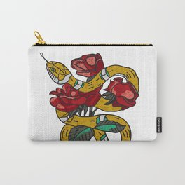 Snake N Rose Carry-All Pouch