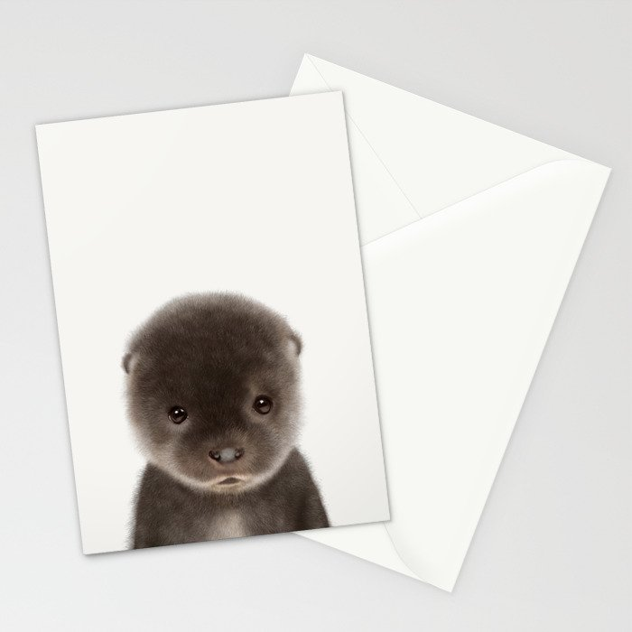 Baby Otter Stationery Cards