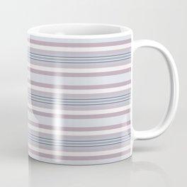 Mauve Blue Stripes Coffee Mug