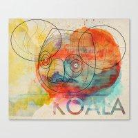koala Canvas Prints featuring Koala by Alvaro Tapia Hidalgo