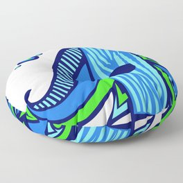 The Blue Elephant Floor Pillow