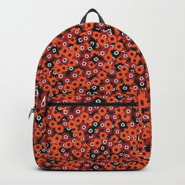 Red Ditsy Daisy Floral Backpack