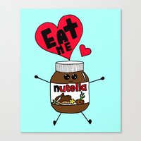 nutella Canvas Prints featuring Nutella by Aurelie