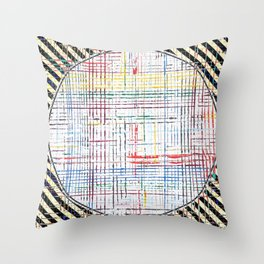 The System - line motif Throw Pillow